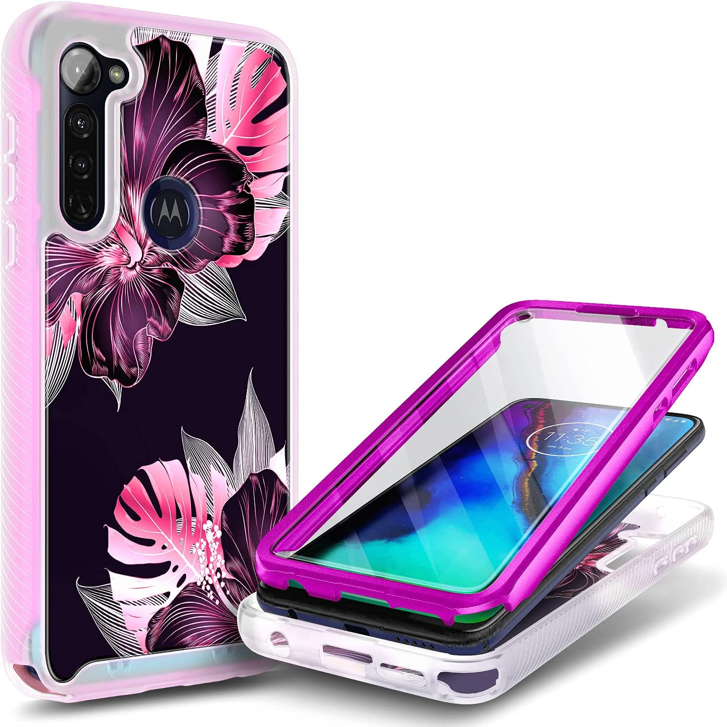 E-Began Moto G Stylus Case Ful Screen Colorado Springs Mall with Protector Super special price Built-in