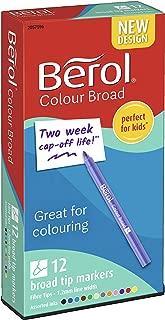 Berol Colour Broad Fibre Tipped Pen Pack of 12