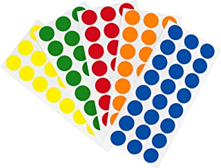 ChromaLabel Removable Color-Code Dot Label Kit   5 Assorted Standard Colors   1200/Pack (1/2 inch)