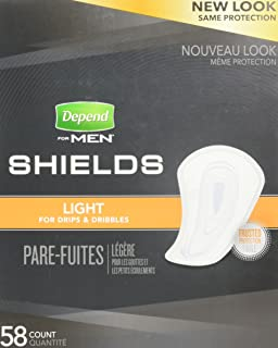 Depend Shields for Men, Case/174, 58 Count (Pack of 3)