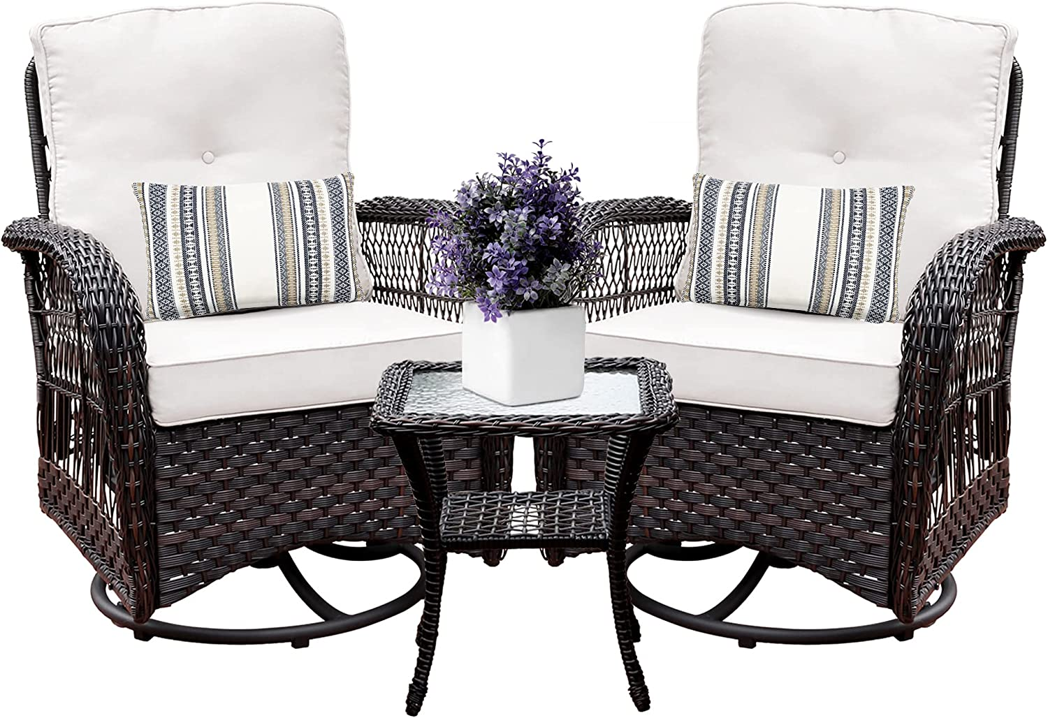 Harlie Stone Outdoor Swivel Rocker Patio Chairs M 2 and Set Max 84% OFF Spring new work one after another of