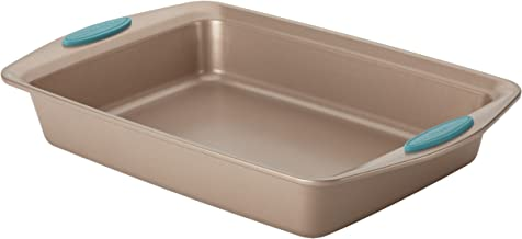 Rachael Ray Cucina Nonstick Baking Pan With Grips / Nonstick Cake Pan With Grips, Rectangle - 9 Inch x 13 Inch, Brown