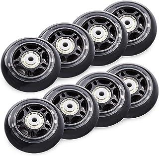 TOBWOLF 70mm/ 76mm 82A/84A inline skaatwielen, 8 Pack vervanging rolschaatsen wielen voor meisjes en jongens wielen met la...