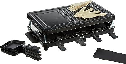 Princess 162349 Raclette Grill Electrique 8 Personnes Revêtement Antiadhésif Noir 1400 W