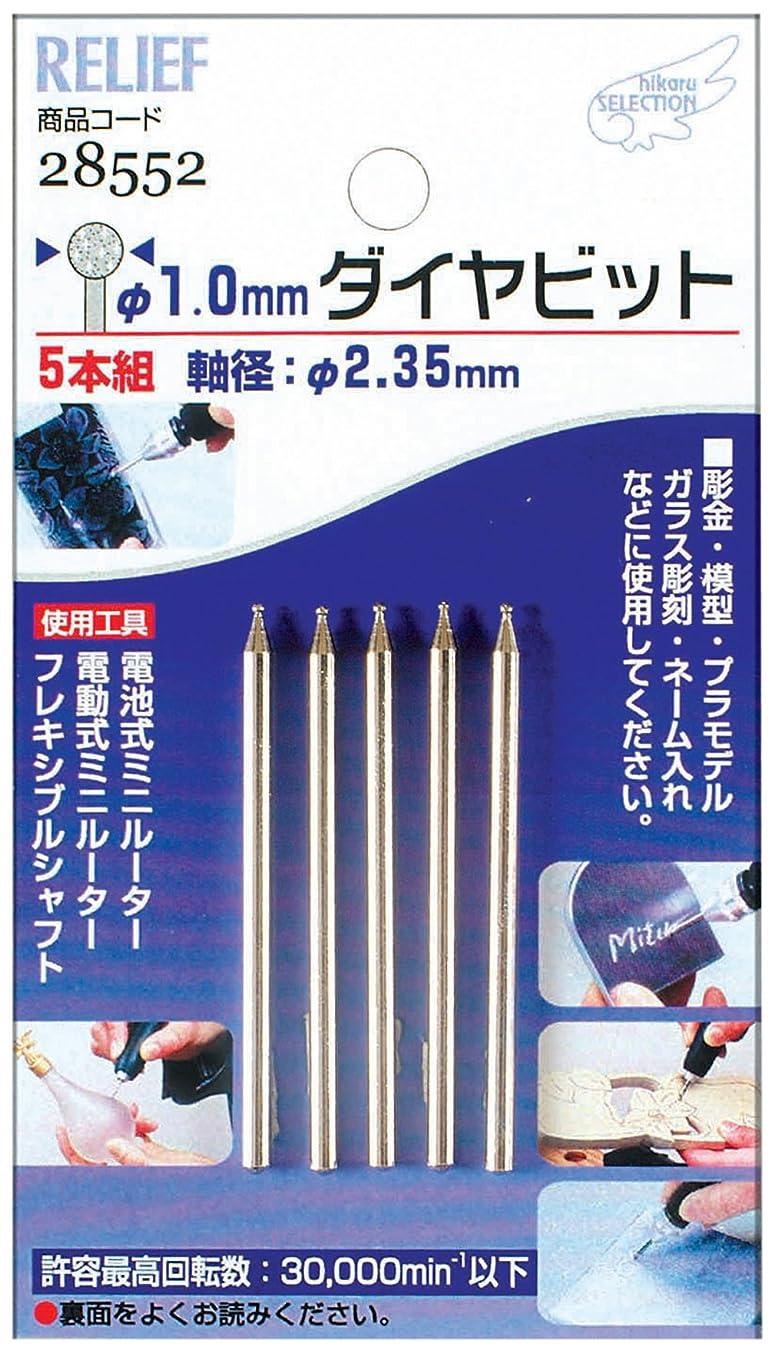 保険をかける寄託電気リリーフ(RELIFE) 5本組 ダイヤビット 1.0mm 2.35mm軸 28552