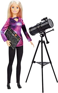 ​​Barbie Astrophysicist Doll, Blonde with Telescope and Star Map, Inspired by National Geographic for Kids 3 Years to 7 Years Old​