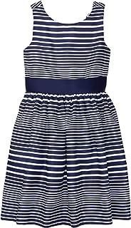 فستان جيمبوري مخطط بدون أكمام للفتيات الصغيرات