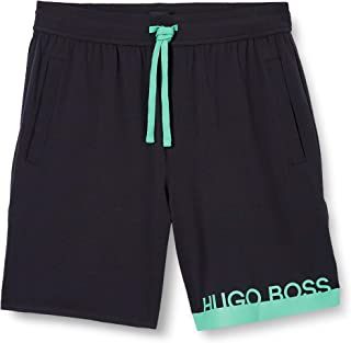 BOSS Mens Identity Shorts Pyjama Shorts in Stretch Cotton with Printed Logo