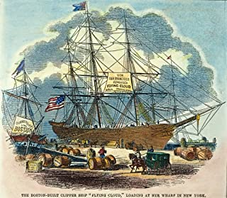 Clipper Flying Cloud 1851 Nthe Clipper Ship Flying Cloud Loading At New York For A Voyage To San Francisco In 1851 Contemporary Colored Engraving Poster Print by (24 x 36)