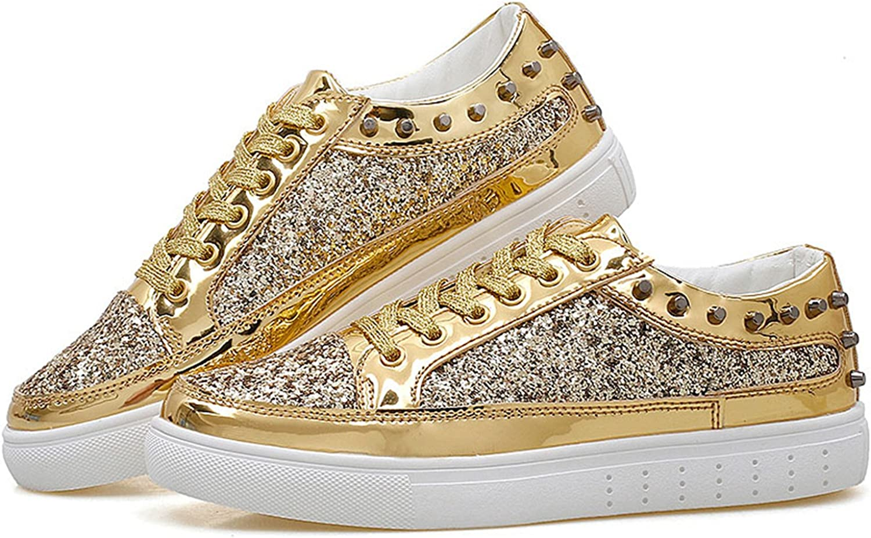 Wanyesta Women Flats Rivet Sequins Shiny Bling shoes