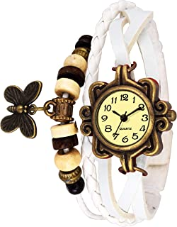 Watzo Butterfly Dori Analog Dial Leather Dori Strap Party Wedding | Casual Watch | Formal Watch | Luxury Watch | Fashion Wrist Watch Specially for Teenager Girls and Women | Dori