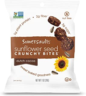 Somersaults Sunflower Seed Bites, Dutch Cocoa, 1 Ounce, 24 Count