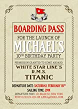 boarding pass paper for invitations