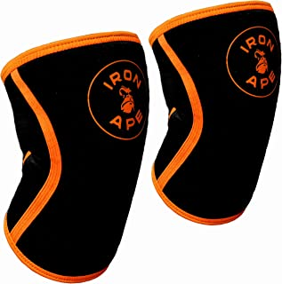 IRON APE 7mm Weight Lifting Knee Sleeves for Powerlifting Weightlifting and Crossfit, 1 Pair
