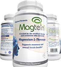 Magnesium L- Threonate-(2,042 Mg), Patented Original Magtein Supplement From MIT Inventors to Clear Brain Fog, Support Sleep, Mood, Focus and Memory – 30 day supply- 60 ct. Veggie Capsules