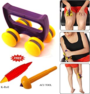 Spine Roller with Four Magnet Deluxe with Top Support to apply Pressure Useful for Spinal Nerves and revitalizes total body