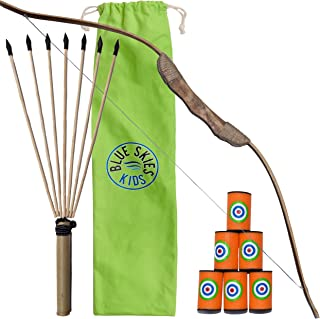 Kids Bow and Arrow that your Son, Daughter or Grandson will Love. Great fun for 4, 5, 6 years and older. Well-made Good Quality toy bow and arrow set with 5 Year Warranty. Good value / Sturdy / Safe /