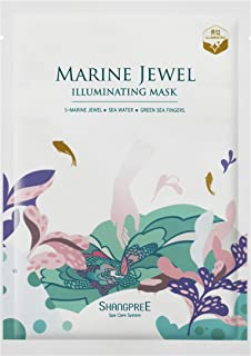 SHANGPREE SPA CARE SYSTEM Marine Jewel Illuminating Sheet Mask Single Pack