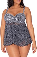 Smart & Sexy Women's Full Busted Ruffle Twist Bandeau Tankini