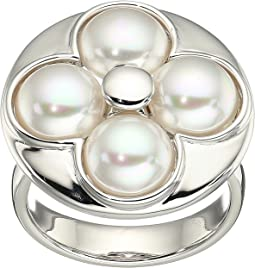 Majorica - 8mm Round Luck Sterling Silver Ring
