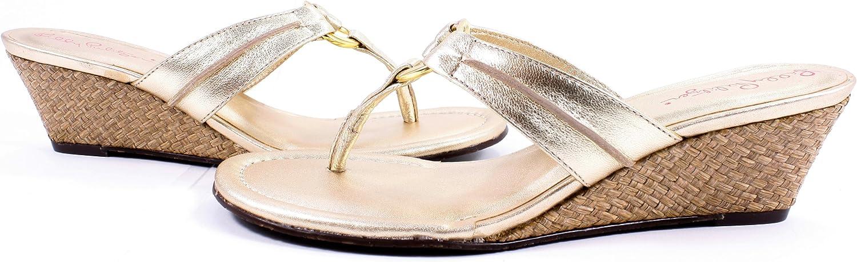 Lilly Pulitzer Mckim Wedge gold Metallic Women's Sandals