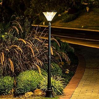 Pilier LED Gradation Énergie Solaire Réverbère High Pole Télécommande Tricolore Gradation, Extérieur Imperméable à L'eau C...