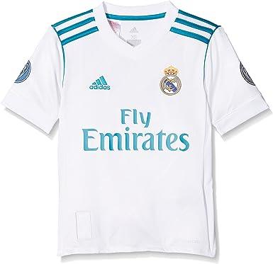 adidas H JSY UCL Youth Camiseta 1ª Equipación Real Madrid 2017-2018 LFP - Champions League Niños