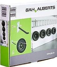 GAH-Alberts 801960 velgenhouder-set, wandhouder voor autovelgen, bandenhouder met bedekte pvc slang, elektrolytisch verzin...