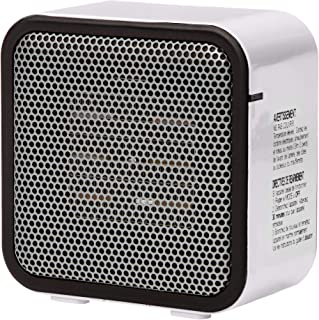AmazonBasics 500-Watt Ceramic Small Space Personal Mini Heater - White