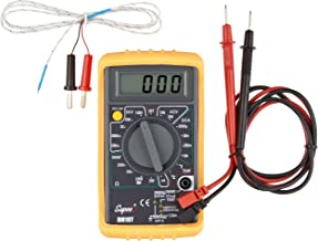 Supco DM10T Economy Digital Multimeter with Temperature Reading, 32 to 74 Degrees F, 750 AC Volts