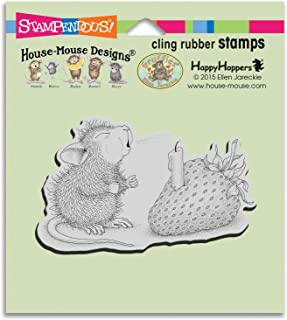 Stampendous Hmcm18 House Mouse Cling Stamp, Strawberry Wish, (Pack of 3)