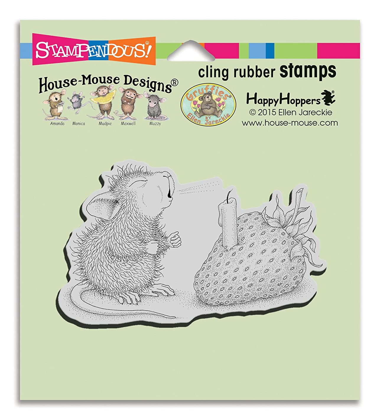 Stampendous HMCM18 House Mouse Cling Stamp, Strawberry Wish