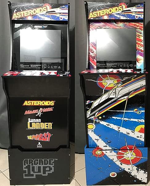 Gulf Coast Decals Arcade1up Cabinet Riser Graphics Asteroids Asteroid Graphic Sticker Decal Set