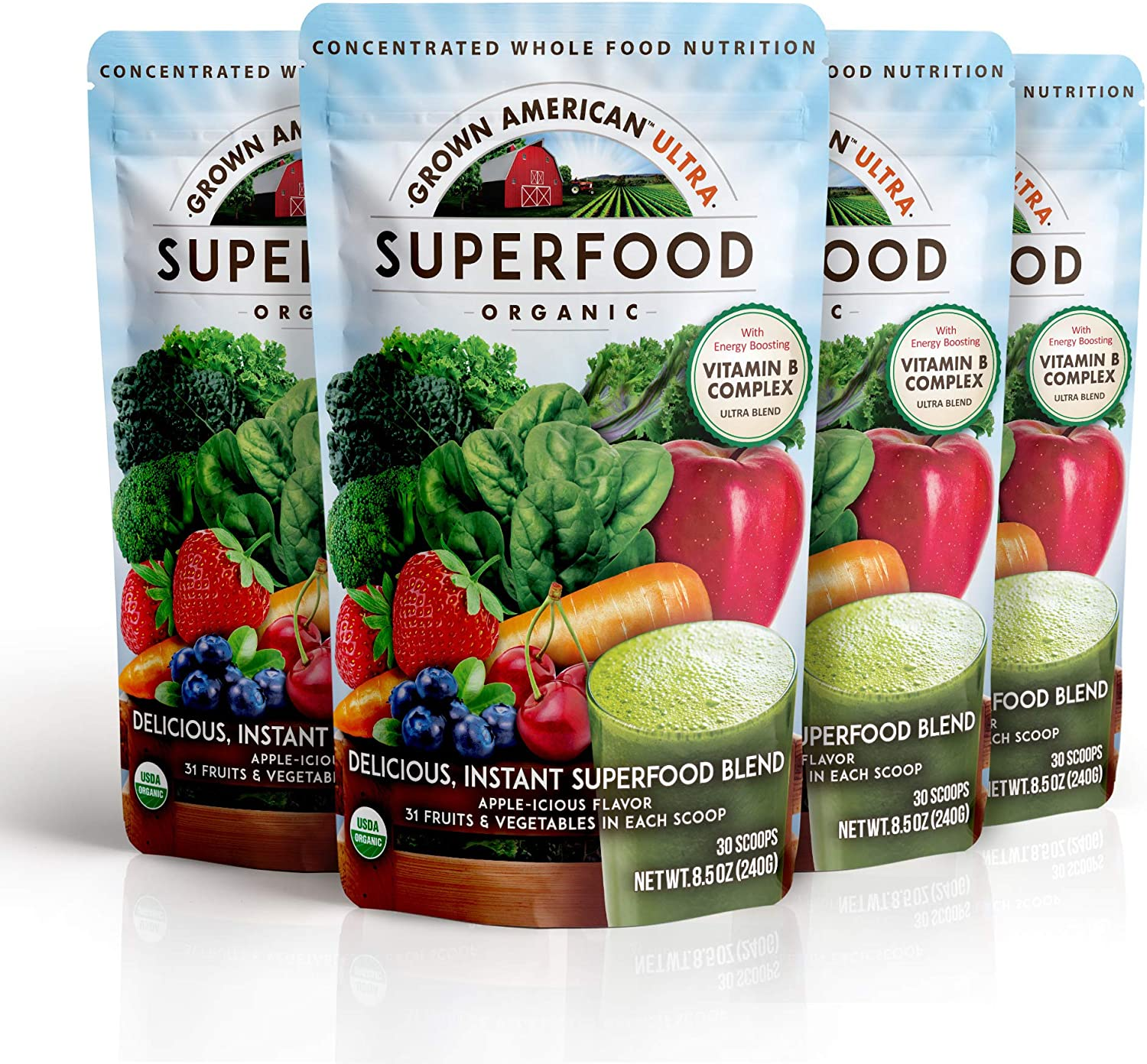 Grown American Superfood 信用 保証 Ultra Organic Vegetabl Whole Fruits and