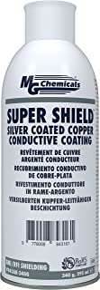 MG Chemicals 843AR-340G 843Ar Super Shield Coated Copper Conductive Coating, 12 Oz, Aerosol Can, Silver/Beige