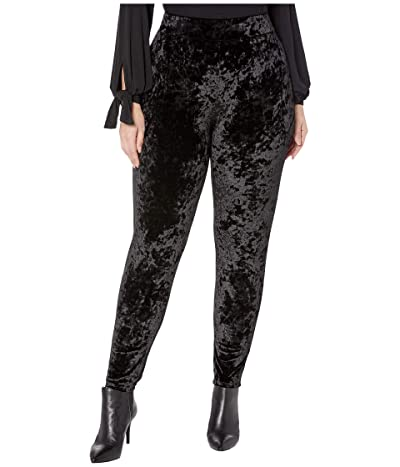 MICHAEL Michael Kors Plus Size Velvet Leggings (Black) Women