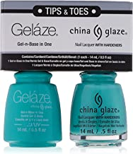 China Glaze Gelaze Tips and Toes Nail Polish, Too Yacht to Handle, 2 Count