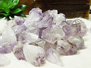 1/2 lb Amethyst Points Stones Bulk - Raw Natural Crystals - Bulk Gemstones - for Jewelry Making, Wicca, Reiki, Crystal Healing, Wire Wrapping