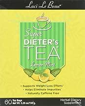 Lemon Mint variety of Laci Le Beau Laci Super Dieter's Tea, 60 Count Tea Bags (Net Wt. 5.26 oz)