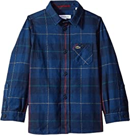 Flannel Checked Shirt (Little Kids/Big Kids)