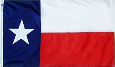 Annin Flagmakers Model 145260 Texas State Flag 3x5 ft. Nylon SolarGuard Nyl-Glo 100% Made in USA to Official State Design Specifications.