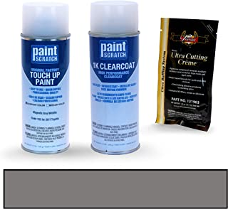 PAINTSCRATCH Magnetic Gray Metallic 1G3 for 2017 Toyota Tundra - Touch Up Paint Spray Can Kit - Original Factory OEM Automotive Paint - Color Match Guaranteed