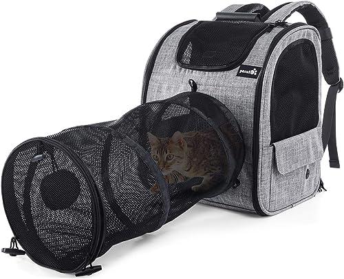 Pecute Transportin Gato Mochilas para Gatos y Perro Bolsa para Mascotas Expandible y Plegable, Carga Máxima 15 kg, pa...