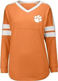 J. America NCAA Clemson Tigers Women's Gotta Have It Cheer Tee, Medium, Orange/White