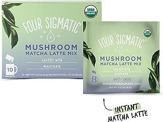 Four Sigmatic Matcha Latte with Maitake Mushroom Powder with Coconut Milk Powder, 10 Count