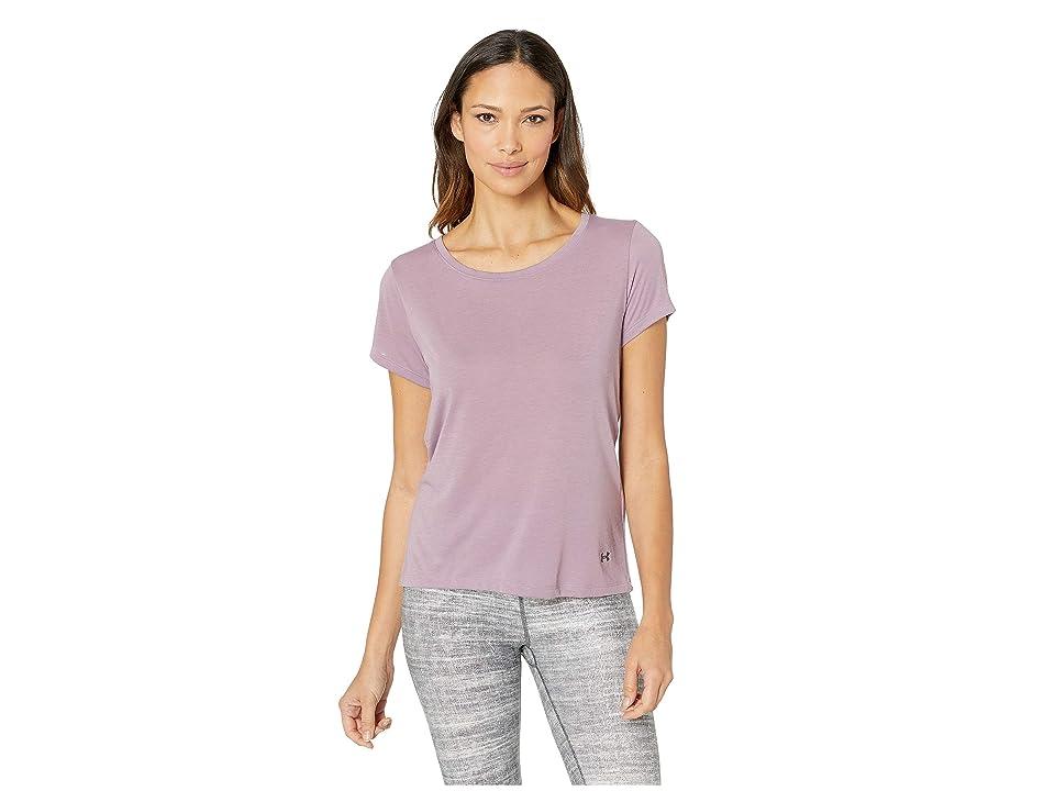 Under Armour UA Whisperlight Short Sleeve Fold-Over (Purple Prime/Purple Prime/Tonal) Women