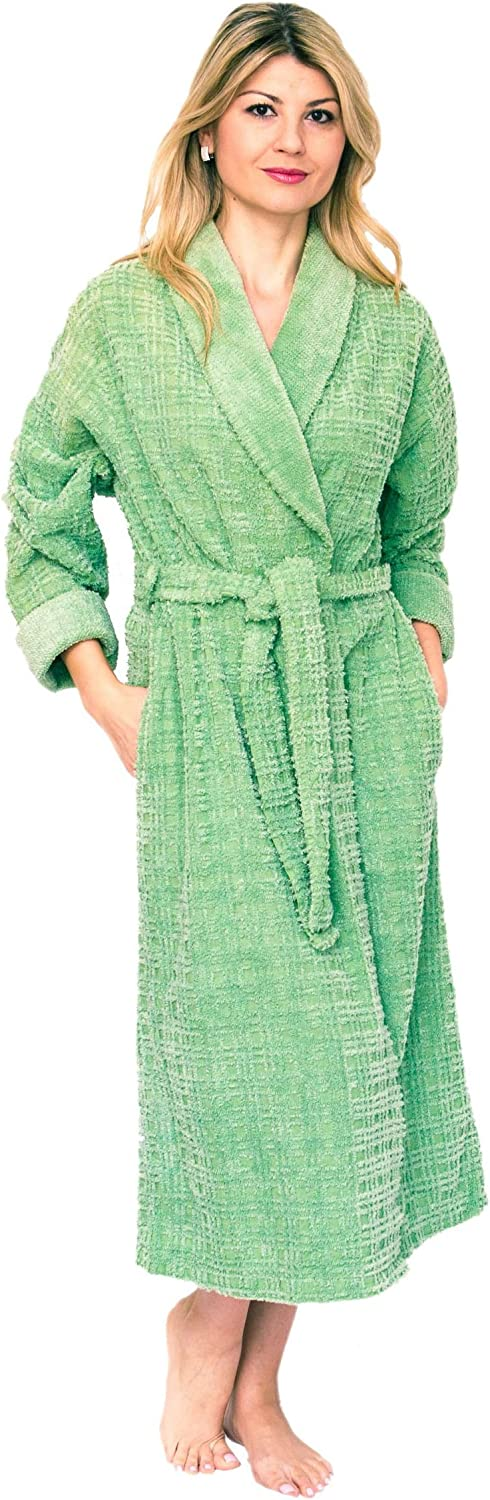 Bath & Robes Women's Long Chenille Robe with Shawl