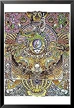 ملصق عمل فني لموسيقى جايري غارسيا بإطار 36 × 24 من Buyartforless جمجمة كبيرة تأسست عام 1965، أبيض