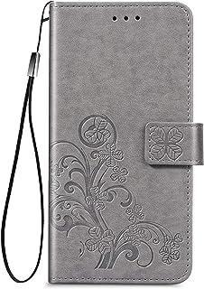 NEINEI Hoesje voor Nokia X10/X20 Case,Mooi Lucky Klaver Patroon Flip Leer Hoes,Mode Protector Cover met Magnetisch,Kaartsl...