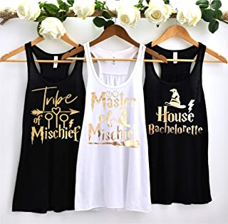 Bachelorette Party Flowy Tank tops, Bride, Bridesmaid Shirts, Bachelorette Party, Tribe of Mischief